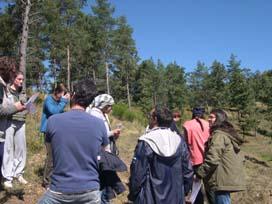 Actividade de orientación na montaña
